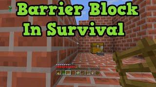 getlinkyoutube.com-Minecraft PS4 + Xbox One Glitch - Barrier Block In Survival