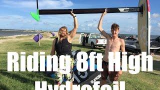 getlinkyoutube.com-Riding Massive 8ft Hydrofoil