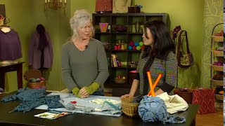 getlinkyoutube.com-Make Yarn from Recycled Clothing - Knitting Daily TV Episode 409