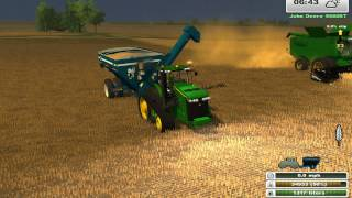 getlinkyoutube.com-Farming Simulator Saturday: More Realistic John Deere Harvest
