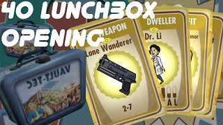 getlinkyoutube.com-Opening 40 Lunchboxes in FALLOUT SHELTER | iOS