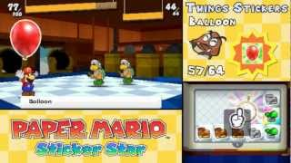 getlinkyoutube.com-Paper Mario: Sticker Star - All 64 Things Animations