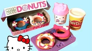 getlinkyoutube.com-Hello Kitty Play Doh Donuts Plastilina Doughnuts DIY  ハローキティ | キャラクター | サンリオ Dough Pâte à Modeler