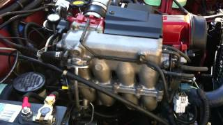 getlinkyoutube.com-Fresh engine swap 1.6L 16 valve, second start in my Suzuki Jimny (samurai)