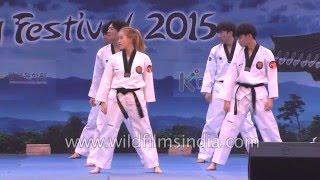 K Tigers put up Taekwondo show in India width=