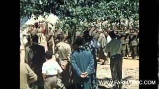 فيديو نادر الملك الحسن الثاني بالشورت  مع بنبركة وأوفقير