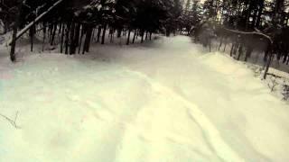 getlinkyoutube.com-Blown snowmobile track followed by frontflip