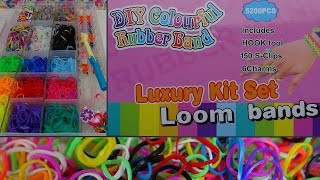 getlinkyoutube.com-DIY-Test:  Loom Bands Luxury Kit Set/ Coulourful Rubber Band Bastelset/ Unboxing/ Review