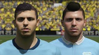 getlinkyoutube.com-FIFA 16 vs FIFA 15 Faces Manchester City (Aguero, Sterling, Yaya Toure)