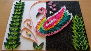 getlinkyoutube.com-DIY Home Decor With Paper Quilling Art : Amazing DIY Room Decor With Bird Quilling Pattern