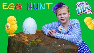 ASSISTANT Surpirse EGG Hunt With Little Live Pets Ultra Golden Chick