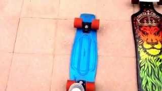 getlinkyoutube.com-Penny board MONSTER wheels