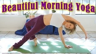 getlinkyoutube.com-Beautiful Morning Yoga Stretch For Beginners! 20 Minute Energy & Flexibility Workout Routine