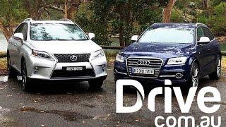 getlinkyoutube.com-Audi SQ5 v Lexus RX 450h F Sport 2013 | SUV Comparison | Drive.com.au