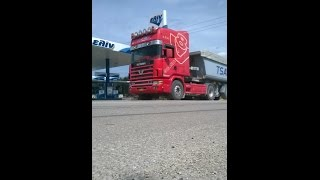 getlinkyoutube.com-Scania 164 580 no6 TsaGoil G.S. Powered