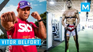 getlinkyoutube.com-Vitor Belfort Conditioning Training & Pad Work | Muscle Madness