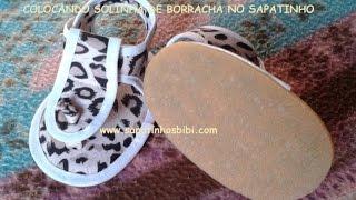 getlinkyoutube.com-colocando solinha de borracha no sapatinho