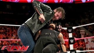 "getlinkyoutube.com-Dean Ambrose punishes ""Seth Rollins"": Raw, Oct. 20, 2014"
