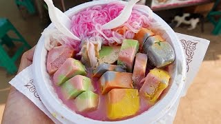 getlinkyoutube.com-Indian Street Food - RAINBOW ICE CREAM Kulfi | Falooda | Ice Gola