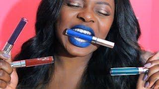 getlinkyoutube.com-♡ ColourPop Ultra Matte Lip Swatches on Dark Skin (LAX, Guess, Dr. M & Jellies) +MINI LIP TUTORIAL ♡