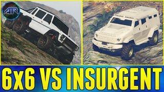 getlinkyoutube.com-Insurgent VS Dubsta 6x6 Offroad Battle In GTA 5 Online!!! (Best Offroad Trucks)