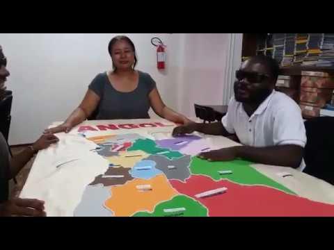 clique aqui para ver o video Mapa de Angola feito em alto relevo pelo IPC será levado para Sumbe