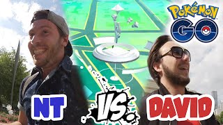 NT VS DAVID LAFARGE : COURSE A L'ARENE ! - VLOG POKEMON GO