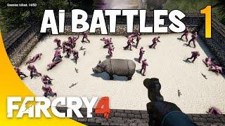 getlinkyoutube.com-Far Cry 4 | AI BATTLES | Pagan Mins v. Rhino