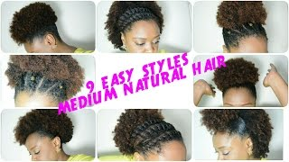 getlinkyoutube.com-9 BACK TO SCHOOL hairstyles for MEDIUM NATURAL HAIR (2016)| THE CURLY CLOSET