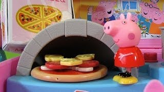 getlinkyoutube.com-Peppa Pig Pizzeria Playset Carry Case - Juguetes de Peppa Pig