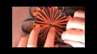 getlinkyoutube.com-DIY Paper Quilled Flower for Decoration