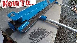 getlinkyoutube.com-How To: Home-made Sheet Metal Brake, Built On A Budget!!!