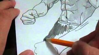getlinkyoutube.com-Bruce Lee Speed-Drawing