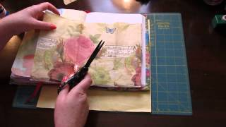 getlinkyoutube.com-Using napkins and tissue paper in my Fauxbonichi / Hobonichi journal