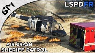 getlinkyoutube.com-GTA 5 - LSPDFR - Air Crash - 4x4 Sheriff Patrol - Patrouille 10