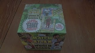 getlinkyoutube.com-BOOSTER BOX BREAK ☆ MATCH ATTAX WORLD STARS 2014 Trading Cards topps OPENING ☆ HD