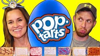 getlinkyoutube.com-Giant POP TART Surprise Play Doh Egg Challenge, Eating Gross PopTarts DCTC