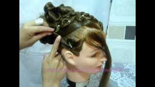 getlinkyoutube.com-alto peinado juvenil con panal/high youth styling comb/высокая молодежи расчёска для укладки
