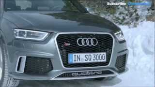 getlinkyoutube.com-Audi RS Q3: Snow Test quattro all-wheel Drive System - Great Sound
