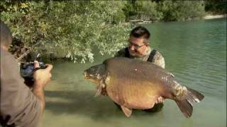 getlinkyoutube.com-Carp fishing in France at Gigantica; Danny Fairbrass lands the 72lb monster carp - the Giant