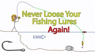 getlinkyoutube.com-How to free a snagged fishing hook in a river (Genie in a bottle trick)