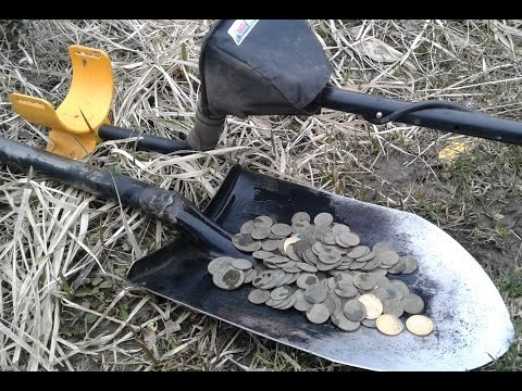 Удачный шурф и монетный клад из 400 монет