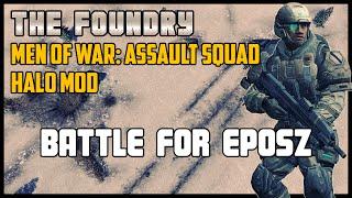 getlinkyoutube.com-Battle for Eposz (Custom Battle) - Men of War: Assault Squad (Halo Mod)