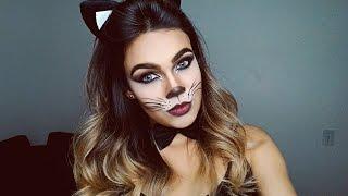 getlinkyoutube.com-Maquiagem de gatinha para festa a fantasia por Nathalia Andrade