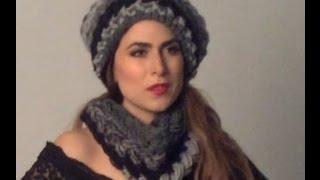 getlinkyoutube.com-TEJIDO GORRO Y CUELLO - Gancho fácil y rápido - Yo tejo con LAURA CEPEDA