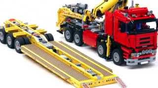 "getlinkyoutube.com-US style lowboy with jeep and booster ""Trailer Tr4 MkII 8258"" build with LEGO®"