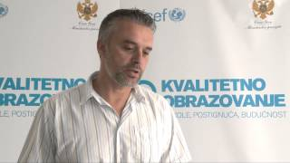 UNICEF MNE - Bogić Gligorović, profesor