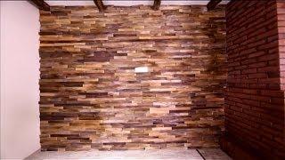 Дешевый способ декорировать стены деревянными щепками  - Дача 28.12.2013 - Выпуск 71