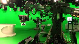 Technodolly camera robotics at CBC (RTL Television) Köln - Spanish language