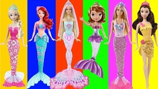 getlinkyoutube.com-Disney Frozen Mermaid Elsa Anna Ariel and Sisters Mermaids Swimming Underwater, FULL Episodes | LEGO